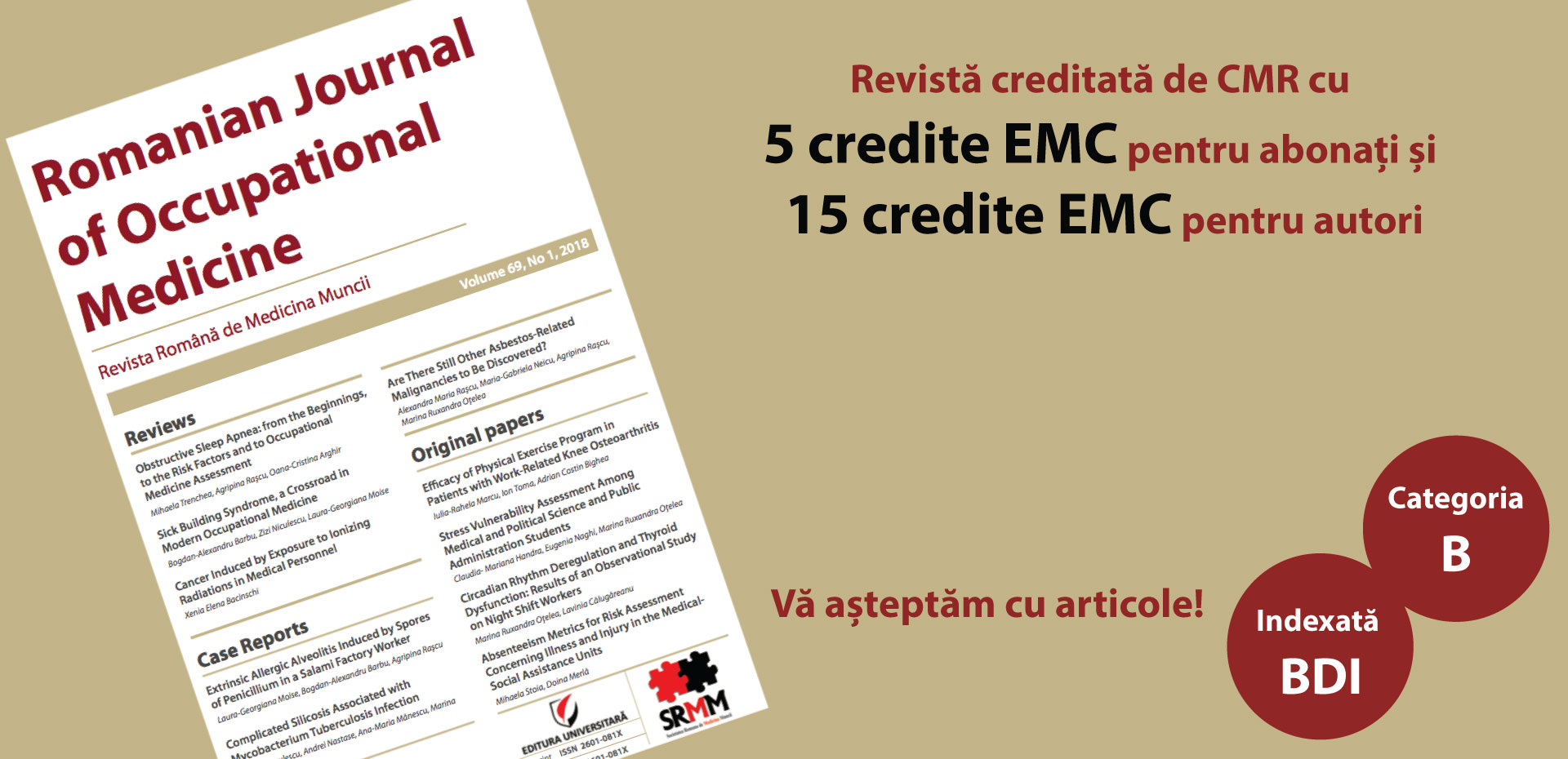 ROMANIAN JOURNAL OF OCCUPATIONAL MEDICINE